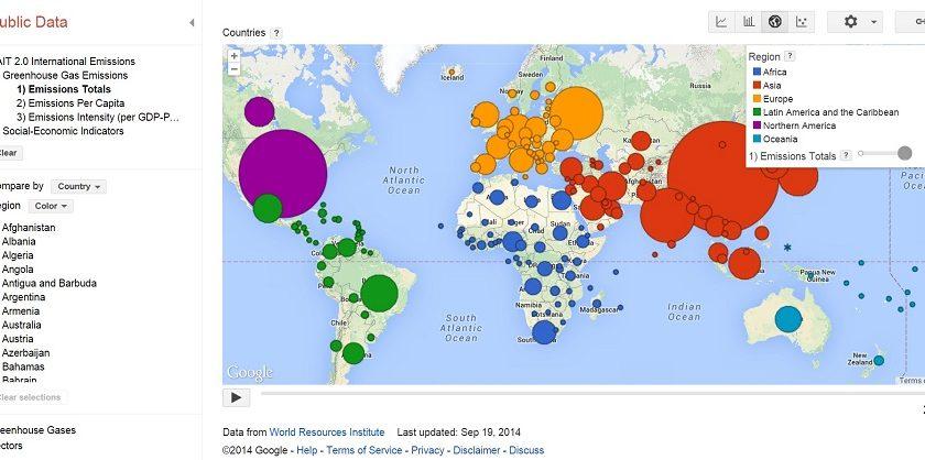 Google Project: Google Public Data Explorer