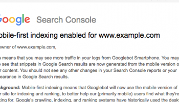 Google Begins to Roll Out Mobile First Indexing