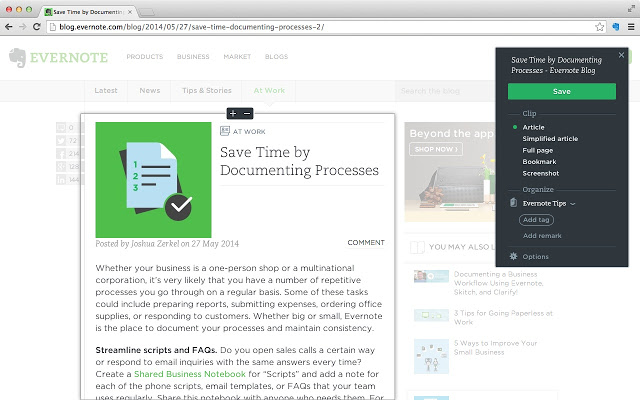 Best Chrome Extensions Evernote Web Clipper