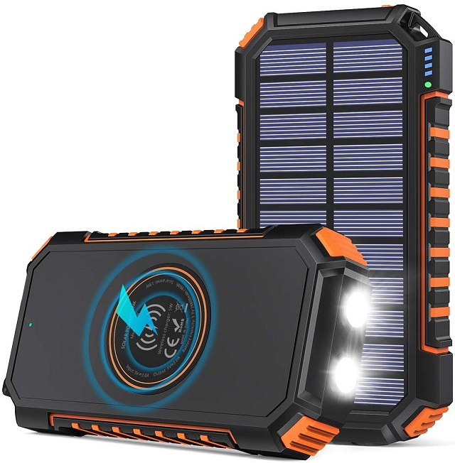 Best Solar Power Bank Riapow Wireless Solar Portable Charger
